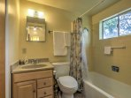 A full bathroom lies between the bedrooms on the second floor. There are 2 bathrooms in this home (the second one is...