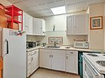 The ground-floor level features a fully equipped kitchen!
