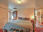 Find the master bedroom with an en suite bathroom on the main-floor and enjoy peaceful slumbers on the king-sized...