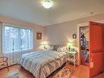 Drift to sleep on the top-floor bedroom's queen-sized mattress.