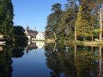 Beautiful stone riverside home, walking distance to quaint medieval village