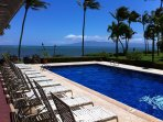 Our pool with island of Lanai in background