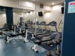Fully equipped work out area.  FREE of  charge to guests.