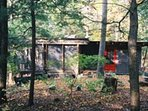 The cabin overlooking the Poetic Creek