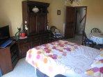 le salon avec canapé lit