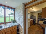 Another shot of the kitchen within Ashley Cottage, which looks onto your secluded garden.