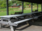 Rent both cabins and have your family reunion in the community shelter.