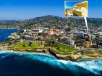 Cottage is located just a short distance from the ocean, and steps from busy downtown La Jolla.