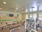 Don't miss a routine work-out with the state-of-the-art fitness center at the community clubhouse.