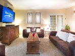 Air conditioned family sitting room with 75inch Samsung smart TV, Wifi, Wii and Xbox console