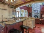 Beautiful Gourmet Kitchen Open to Living Space