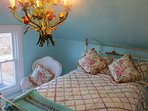 1880 Brass and Iron converted rope bed with a mattress of pure bliss.
