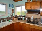 Fully equipped kitchen with all appliances and beautiful views.