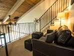 Loft area with foldout couch
