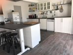 Renovated kitchen  on the first floor - Sea view - fully equipped with dishwasher, washer and dryer