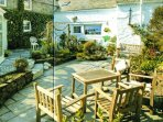 The White Hart's Private Walled Garden in the heart of Padstow