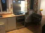 Dual electric oven and gas hob