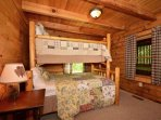 Main level Twin over Queen Bunk Bedroom ensures you and all your guests will stay in comfort!