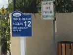 The closest Siesta Key beach the entrance #12