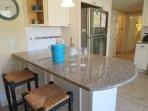 Breakfast bar-seats 2 - 61 Kelley Road West Harwich Cape Cod New England Vacation Rentals