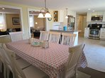 Plenty of seating for dining - 8 at the table and 2 at the breakfast bar - 61 Kelley Road West Harwich Cape Cod New...