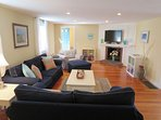 Another view of Living room - central air throughout-  61 Kelley Road West Harwich Cape Cod New England Vacation Rentals