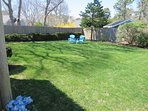 Yard is spacious and great for the kids to run around and play  61 Kelley Road West Harwich Cape Cod New England...