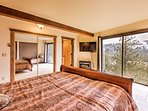 Imagine waking up in this king bed to those breathtaking views!