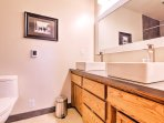 2 full bathrooms provides everyone with space and privacy!