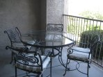 Dining indoors and out on this patio with views!