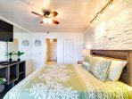 Second bedroom includes TV, air conditioning and ceiling fan.