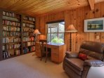 Library in master bedroom