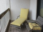 Relax on the small deck off the 2nd bedroom.