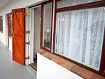 Stable door access to balcony  from all three sea facing bedrooms