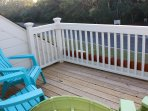 Enjoy your coffee on the deck that has been opened up and resurfaced.