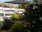 Enjoy a glass of wine in the sunny south facing patio garden.