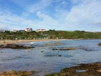 Coldingham Sands for surfing and rockpooling.