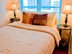 Bedroom #2. Enjoy fine sheets, fine linens. Sealy posture-pedic mattress.