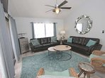 Relax after a an Amazing Day at The Beach in this Spacious Living Room with Flat Screen TV