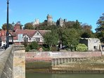 The historic town of Arundel in West Sussex