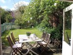 A sheltered, sunny garden to relax in