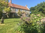 A large south-facing garden with uninterrupted views across Tealham Moor.