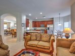 Step into this luxurious villa to find two spacious living areas, which feature elegant furniture, a 47' wide-screen HD...