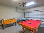 Have some fun in the air-conditioned game room.