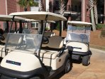 We have new golf carts!