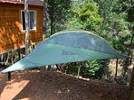 For the adventurous at heart, we have couple tents on stilts overlooking a brook.