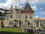 Chateau St Pierre de Serjac, 15 mins drive from the house