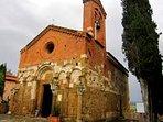 The Romanesque church of San Pietro in Villore in San Giovanni d'Asso