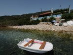 View from sea of Beach House Villa Maro in Alonnisos
