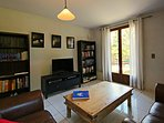 Comfortable Lounge Room with Satellite TV (UK), DVD Library, Books and Games
